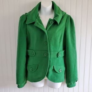 Jack by BB Dakota Peacoat Green Size Large